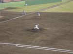サイドスローの浜田投手!