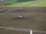 学館浦田、公式戦初先発で見事な投球!